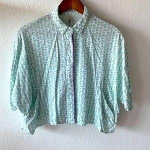 Crop boxy blouse
